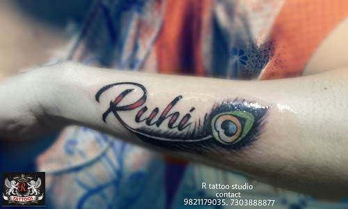 Ruhi Name With Peacock Feather Tattoo On Hand A Photo On Flickriver