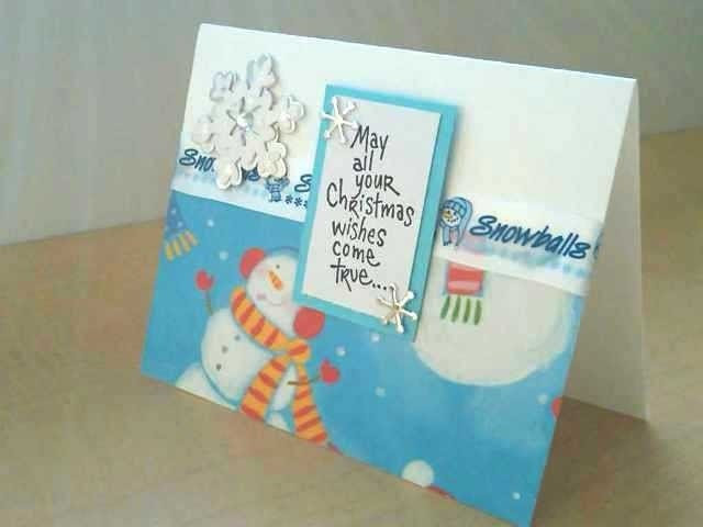 Snowman wishes Note Card