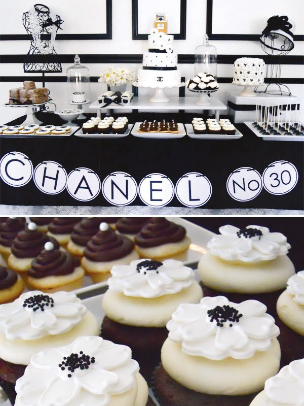 Chic Coco Chanel Inspired Dessert Table Hostess With The