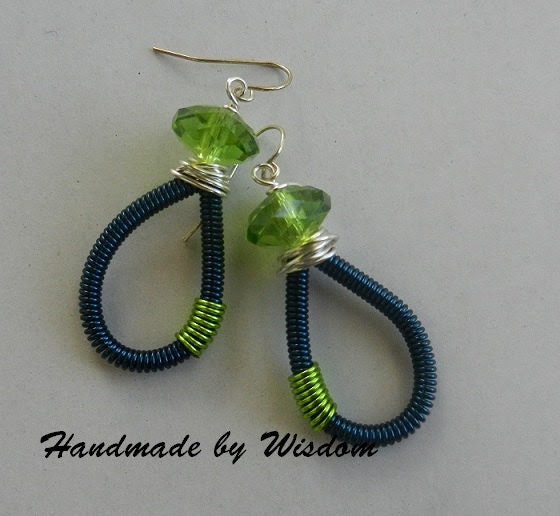 Sapphire Coiled Earrings