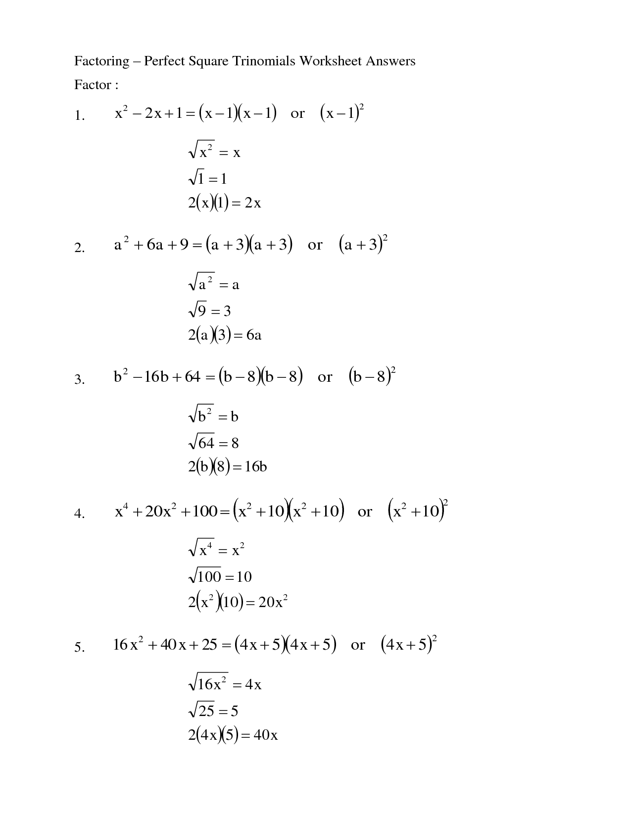 Worksheet Factoring Trinomials Answers Promotiontablecovers [ 1650 x 1275 Pixel ]