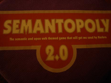 Imaginary board game Semantopoly: The semantic and open web themed game that will get you sued by Hasbro
