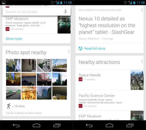 Google updates Search with Now improvements for Jelly Bean devices