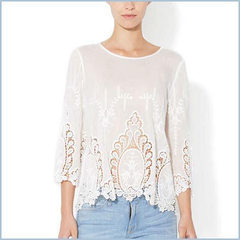 CYNTHIA ROWLEY White 100% Cotton Vita Dolce Embroidered