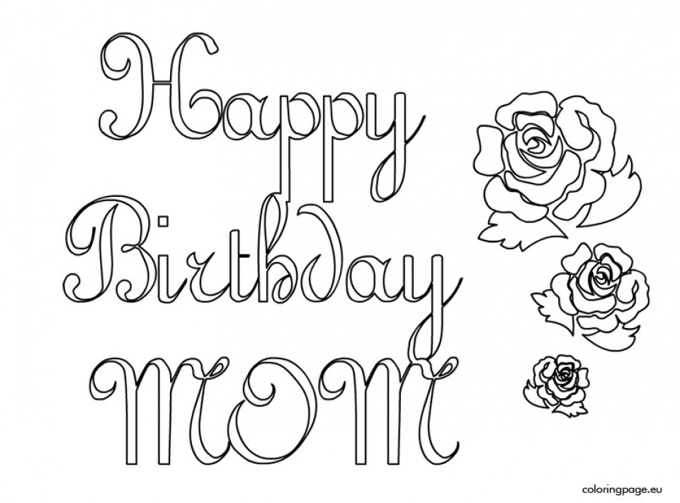 Get This Kids Coloring Pages Happy Birthday Printable 61749