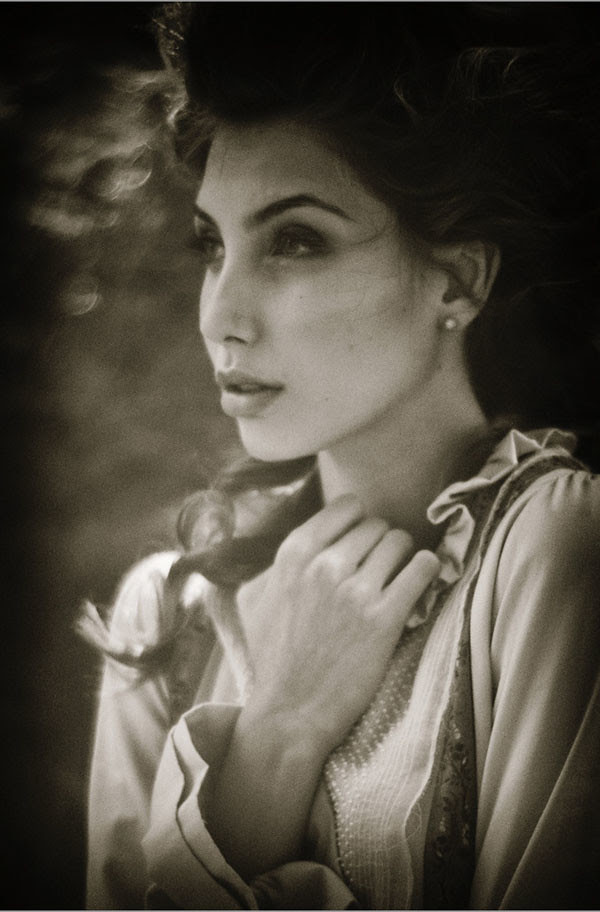 Black and White fashion Photography, Headshot, Alice's Dreamtime