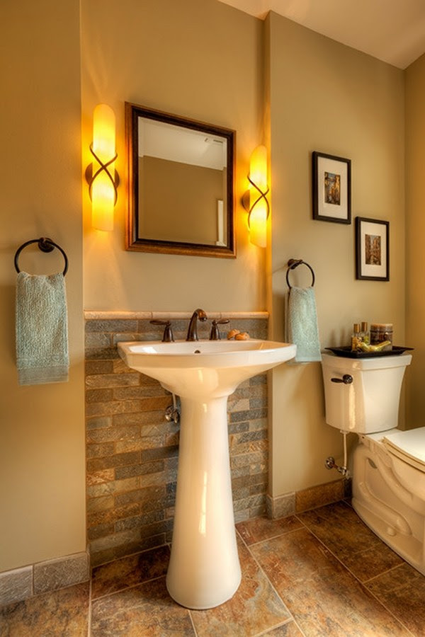 Small Bathroom Design Ideas Elegant Pedestal Sink Wall Sconces