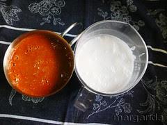 Caldo de èscado y leche de coco