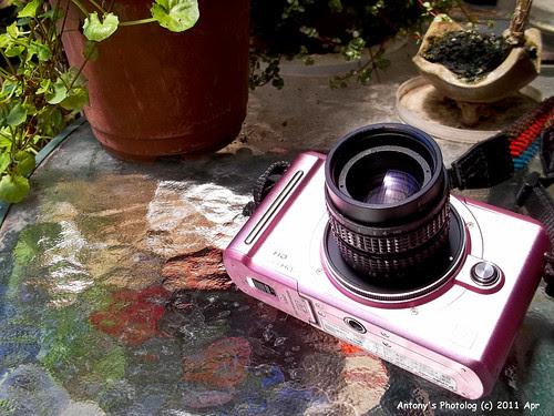 Lumix GF1 with cctv lens