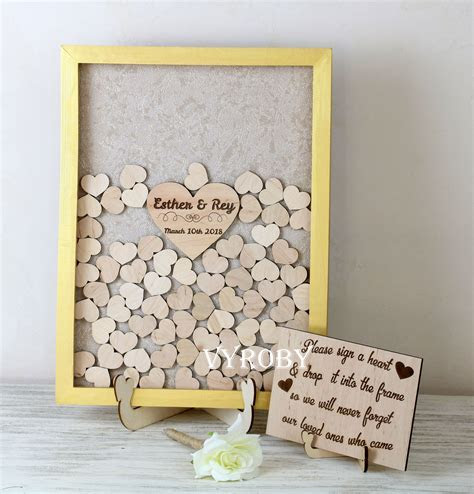 Wedding guest book gold Rustic wedding ideas Wedding