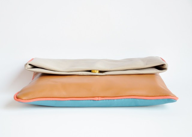 A touch of Fendi fold-over clutch