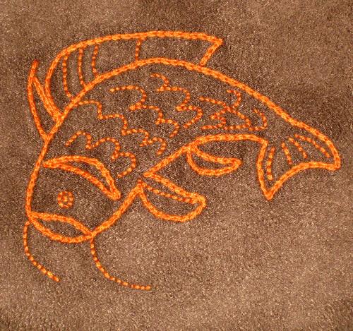 orange koi detail