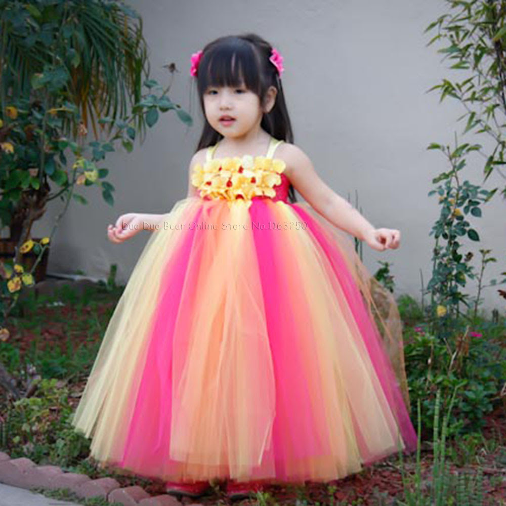 beautiful flowers baby girl birthday dresses infant