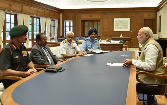 Amid ceasefire violations by Pak, PM reviews security situation with Chiefs of Armed forces