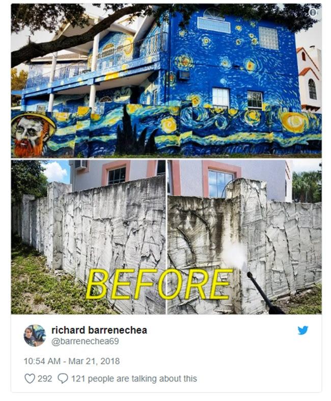 Resultado de imagem para Pais pintam casa estilo Van Gogh para filho autista não se perder