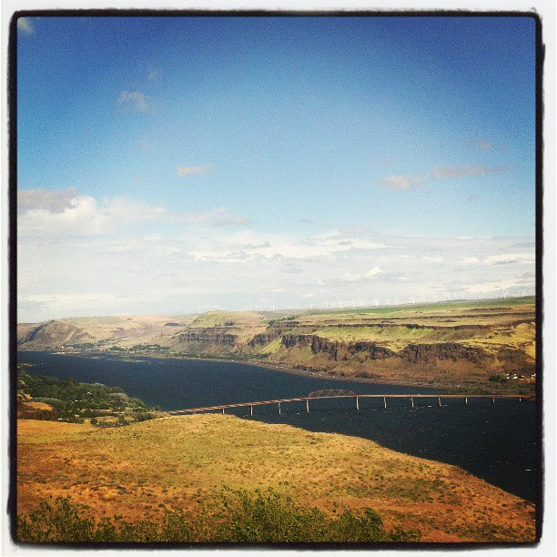View from the fantastic Maryhill Museum in the Columbia Gorge. This is a sight everyone should see in person.
