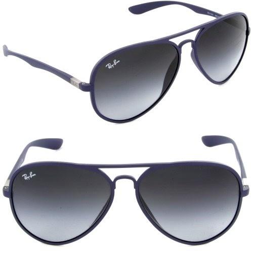 5477c7f7b6aec Wangthong  Ray Ban RB4180 883 8G Liteforce Aviator Tech Matte Blue Gray  Gradient 58mm Sunglasses