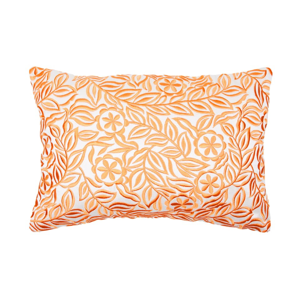 Neon Flower Embroidery Cushion