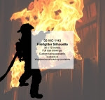 Firefighter Silhouette Yard Art Woodworking Pattern - fee plans from WoodworkersWorkshop® Online Store - firefighting equipment,firefighters,yard art,painting wood crafts,scrollsawing patterns,drawings,plywood,plywoodworking plans,woodworkers projects,workshop blueprints
