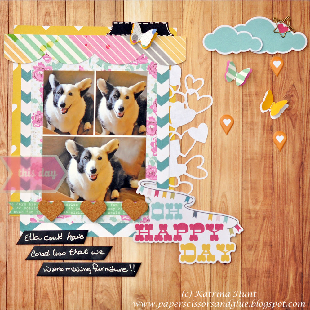 Oh Happy Day with Gossamer Blue-Layout #4