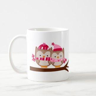 Valentines Day Owls mug