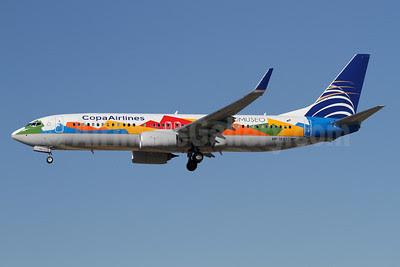 Copa Airlines Boeing 737-8V3 WL HP-1825CMP (msn 40780) (Biomuseo) LAX (James Helbock). Image: 909685.