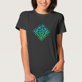 Celtic Knot Tshirt - Blue Green Design