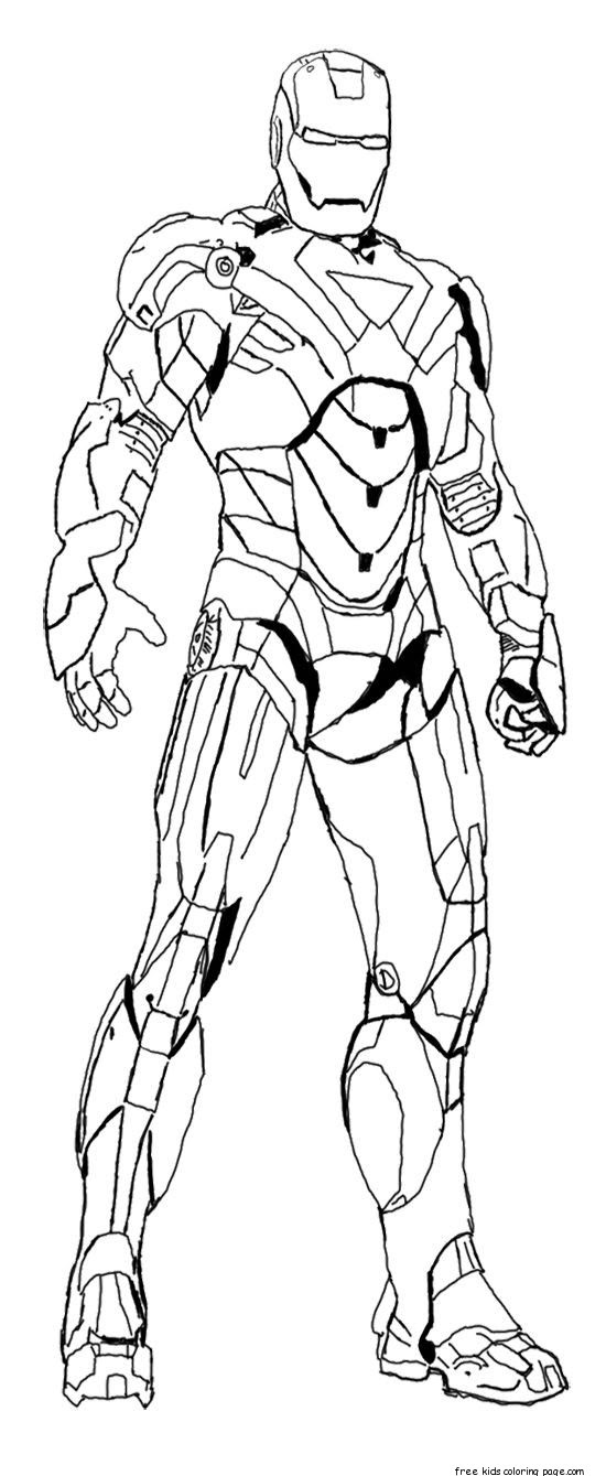 iron man colouring pictures to print for kidsFree ...