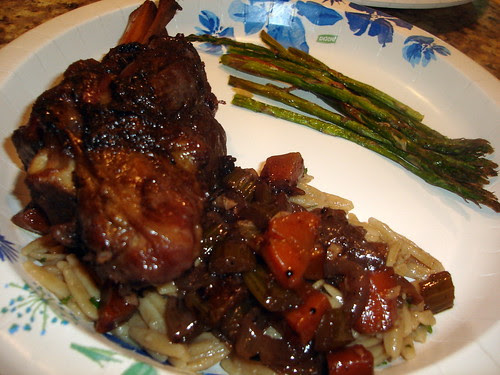 Lamb Shanks with Orzo