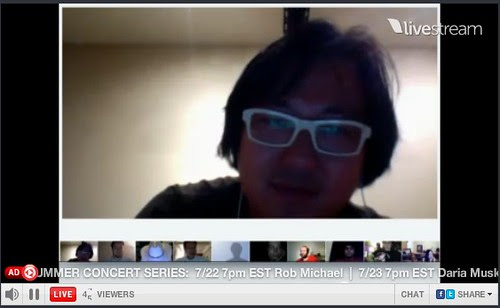 Ben Huh Karaoke on G+ Hangout LIVE STREAMED by stevegarfield