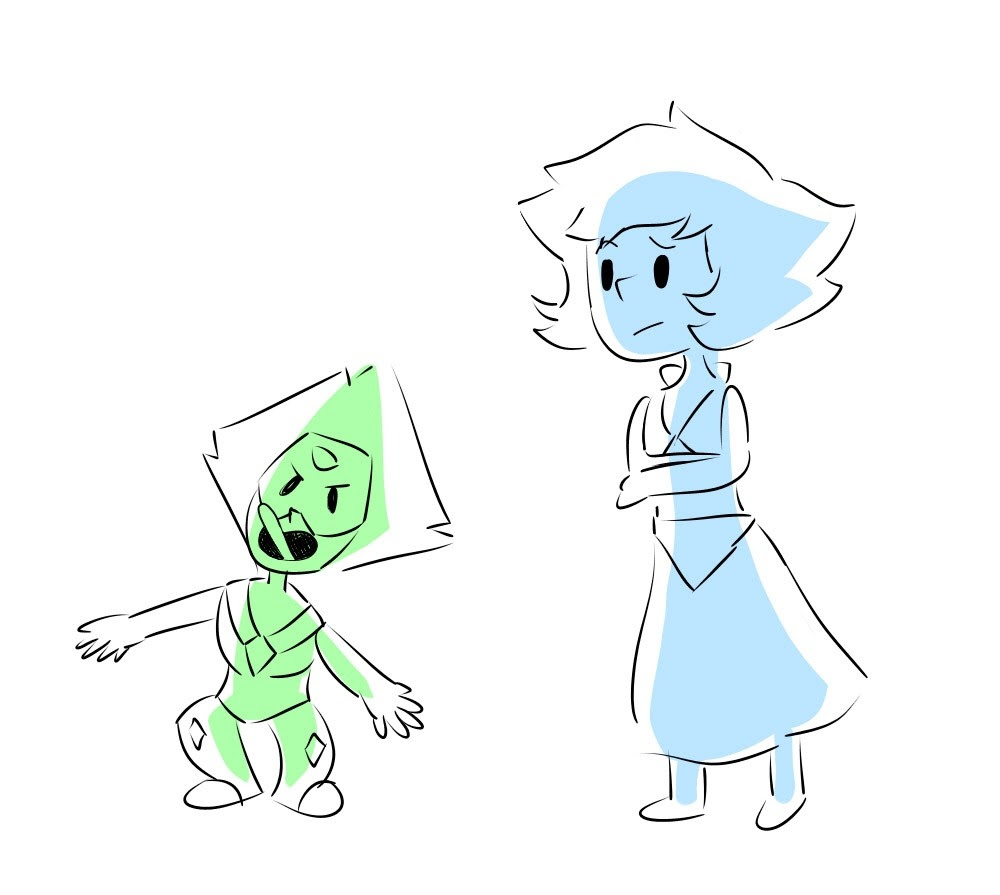 """Lapis is going to have to deal with peridot """"being the monster"""" now lol"""