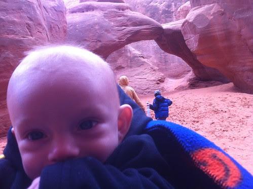Waylon at Sand Dune arch