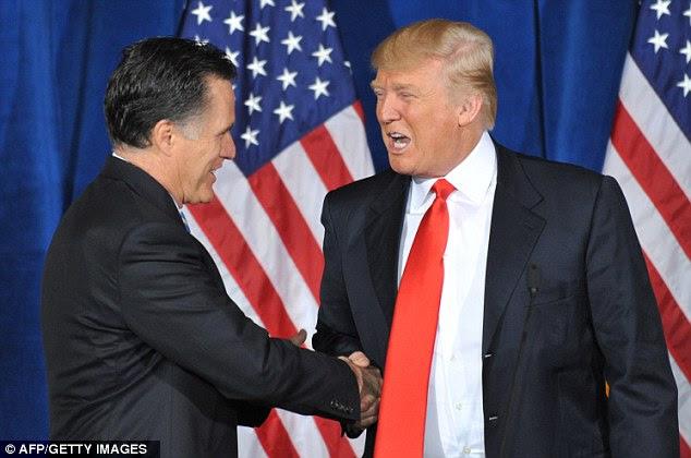 Prioridades: Trump endossou Romney em fevereiro passado em Las Vegas e tem opôs abertamente muitas das políticas de Obama