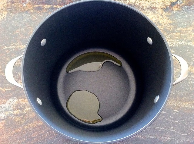 2 Tablespoons Olive Oil in Large Pot