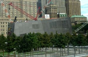 The 9/11 Memorial Museum undergoes construction in New York City.