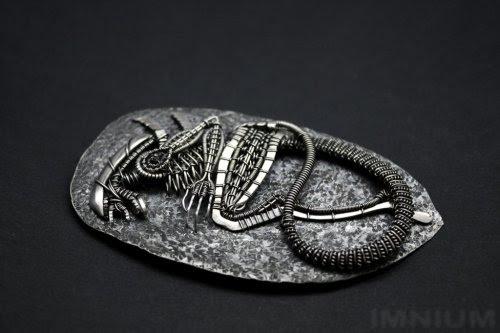 Alien Skeleton Pendant by Ivona Posavi Pšak