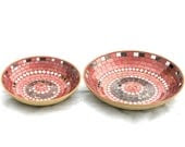 Fruit platters mosaic nesting terracotta red and black modern home decor - SirliMosaic