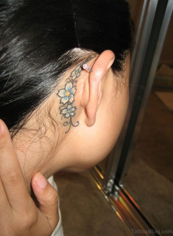 40 Cool Neck Tattoos Behind Ear