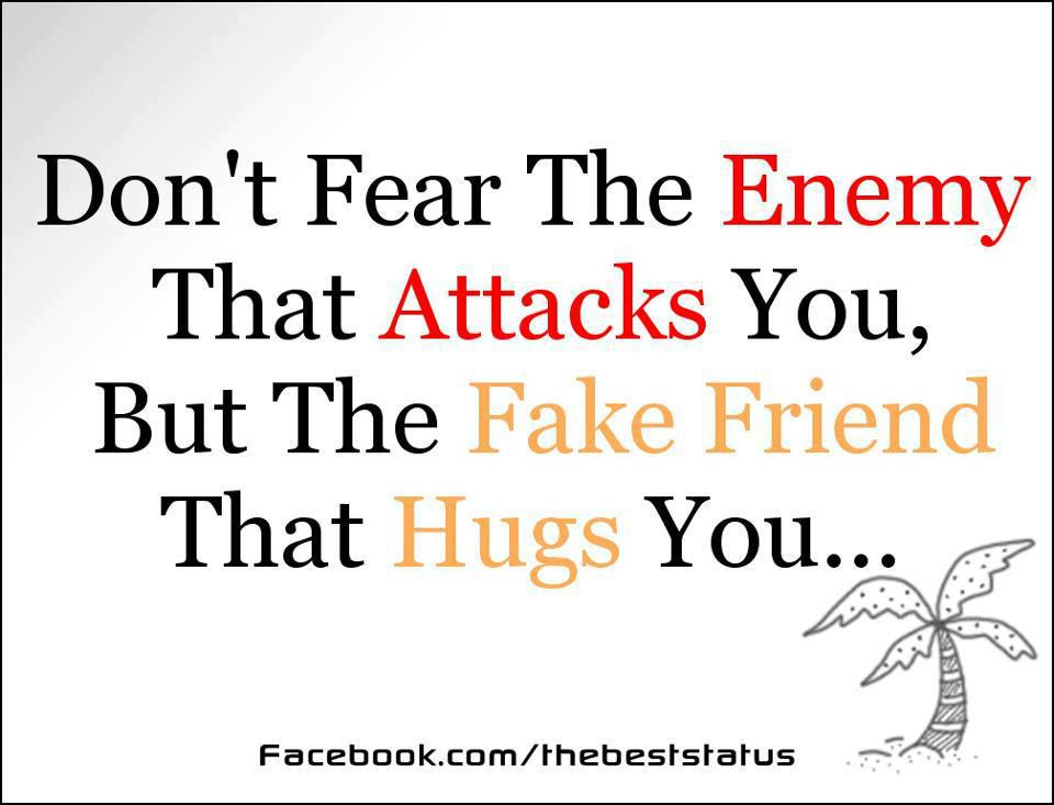 Friendship Quotes Fear The Enemy That Attacks You But The Fake