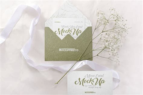 Free Download Set of Wedding Invitation PSD Mockups