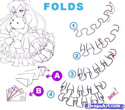 draw ruffles   draw folds step