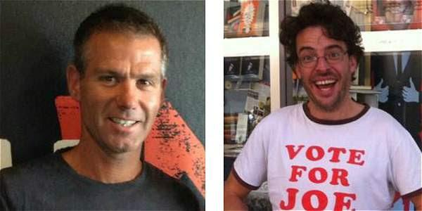 Matt Tilley y Joe Hildebrand, periodistas australianos que hicieron comentarios racistas.