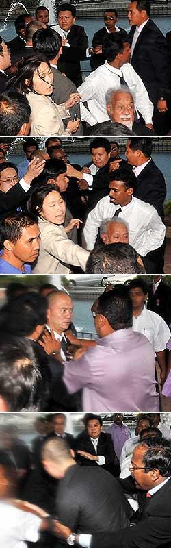 Polis kena ambil tindakan terhadap samseng-samseng ini..jangan apabila pembangkang cepat sangat kamu bertindak.