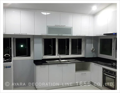 Acrylic Cabinet Panel Kitchens Ayara Decoration Line 1656