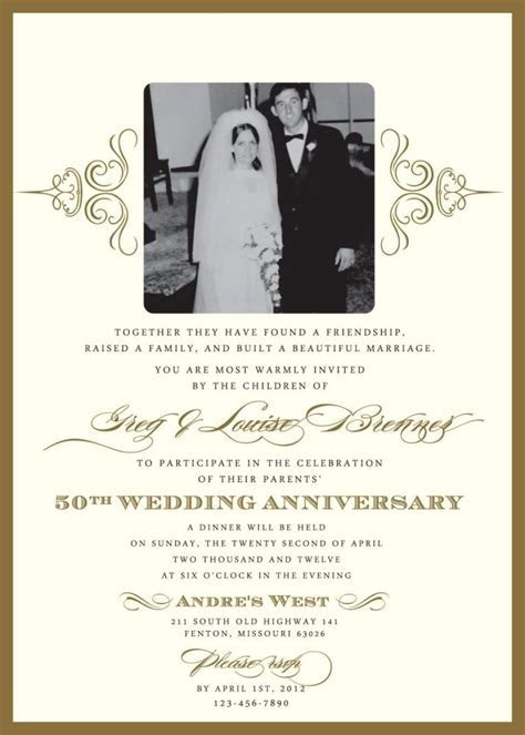 Download 50Th Wedding Anniversary Invitations   Wedding
