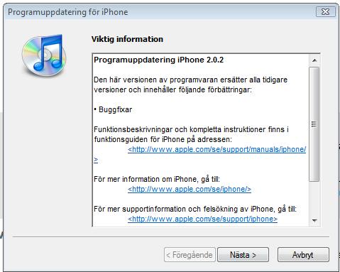 ny iphone programvara