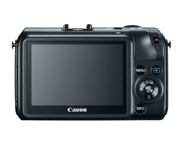 Canon EOS M - Rear View