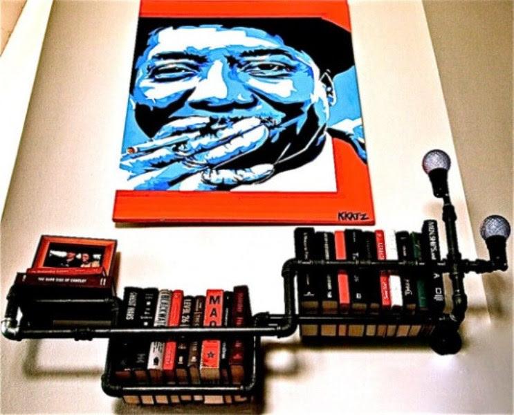 Industrial Black Plumber Bookshelves | DigsDigs