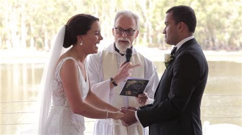 Priest With Great Sense of Humor   Wedding Ceremony   YouTube