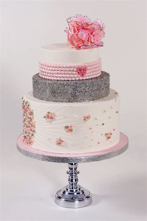 From Sketch to Cake: Pink and Pearls   CakeCentral.com
